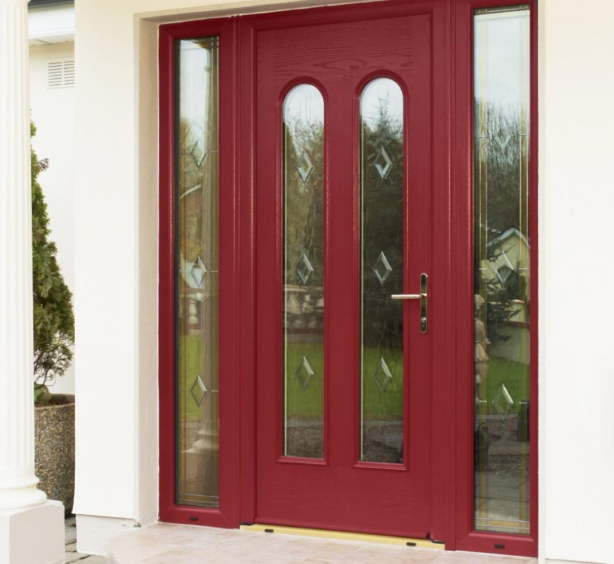 Classic Front Door with side panels